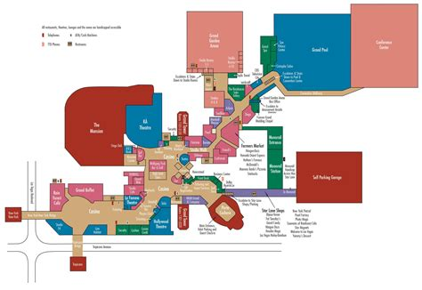 mgm grand casino property map floor plans las vegas