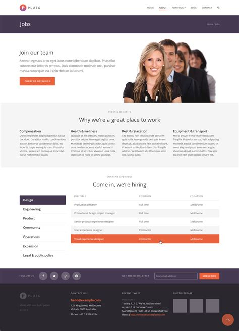 themeforest jobcareer pluto multi purpose woocommerce theme by themewoodmen