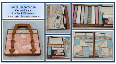 tutorial scrapbooking en español cascade parade new mini album binding paper phenomenon