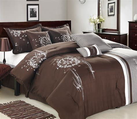 8pc luxury bedding set emily brown grey bedding sets