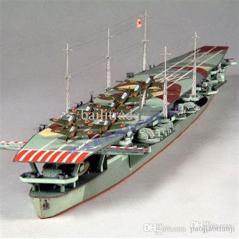 How To Make A Paper Aircraft Carrier - paper battleship models japanese aircraft carrier zuiho 1