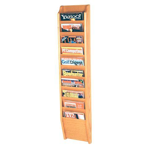 Magazine Racks by Wall Mount Magazine Rack Ten Pocket In Wall Magazine Racks