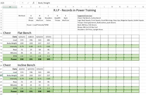 bodybuilding excel template hp 1 records in power r i p