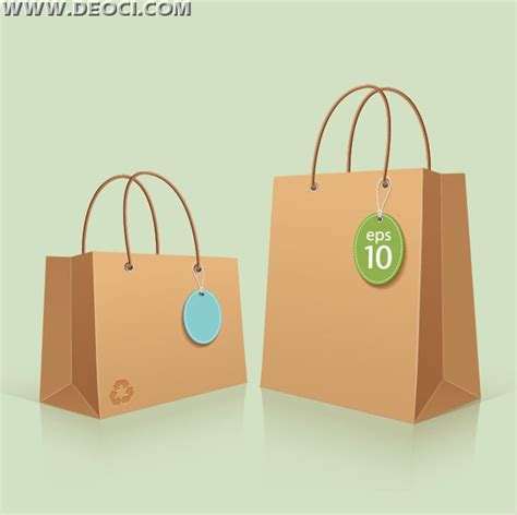 2 paper bag design template vector eps file to download