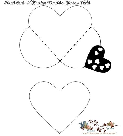 printable valentine envelope template free heart card n envelope valentine template free