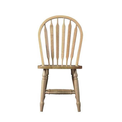 Wood Dining Chairs Unfinished International Concepts Unfinished Wood Arrow Back Dining Chair C 213t The Home Depot
