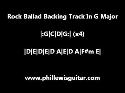 video backing track in g major style slash g major 90 s metal whitesnake style backing track doovi