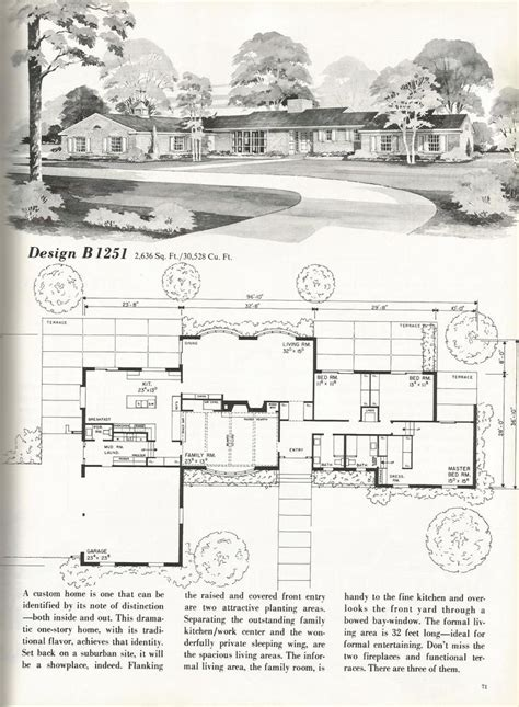 mid century floor plans 19 best mid century blueprints and home design images on
