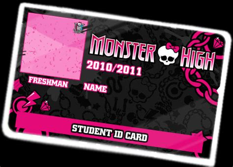 printable monster high student id cards monster high id card by xxxpixelperfectxxx on deviantart