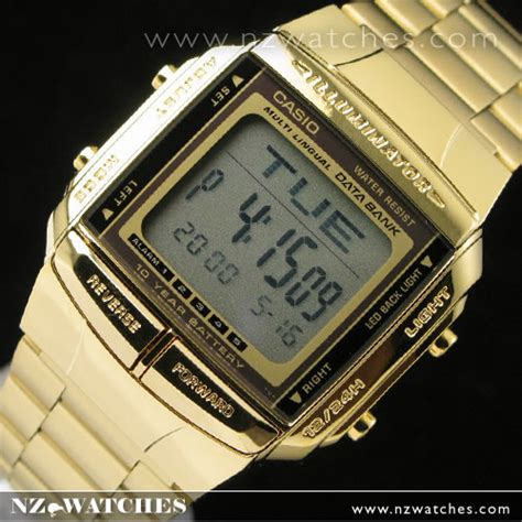 Jam Tangan Casio Db 360 Gold casio goldplated data bank men s db 360g 9a 171 www nzwatches