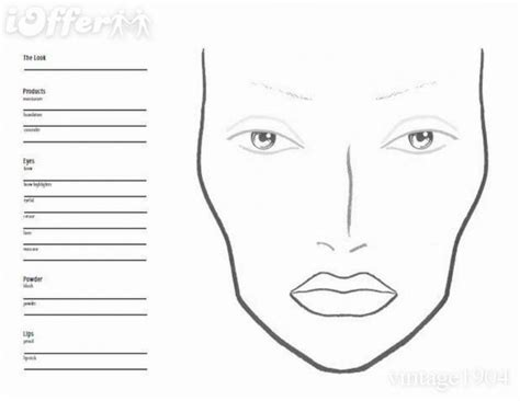 blank face chart makeup www imgkid com the image kid
