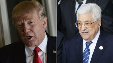 donald trump palestine palestinians trump to brief abbas after netanyahu meeting