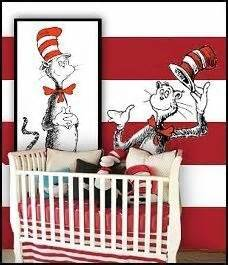 Cat In The Hat Nursery Decor Dr Seuss Nursery A Bit Of This A Bit Of That Pinterest Nurseries And Dr