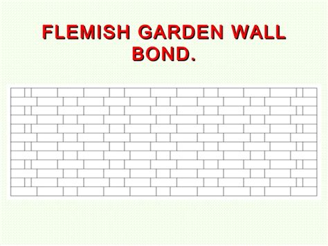 Garden Wall Bond Tutor L1 Brickwork Bonding