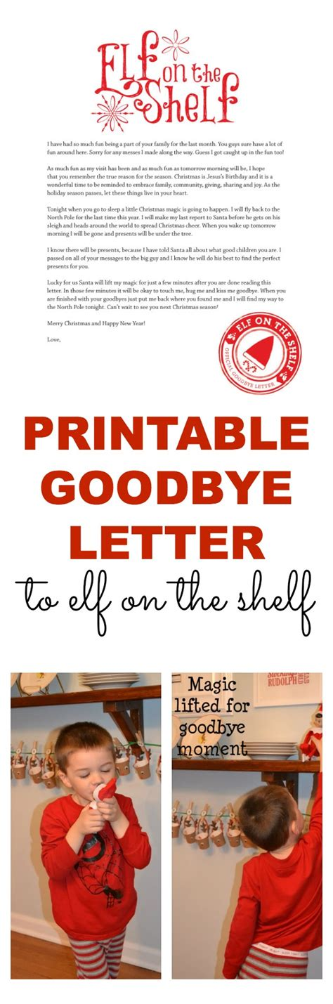 printable goodbye letter to elf on the shelf printable elf on the shelf goodbye letter