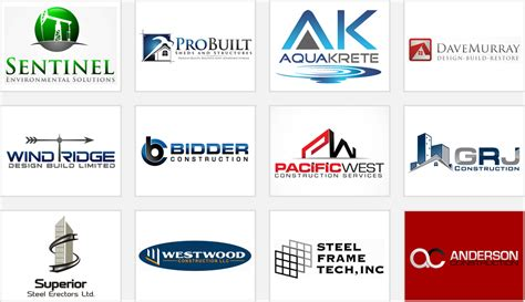architecture company construction company logos that boast great workmanship