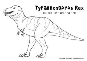 rex dinosaur colouring pages