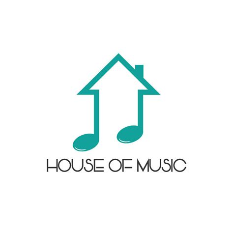 house music logo design house of music shop logo design 15logo