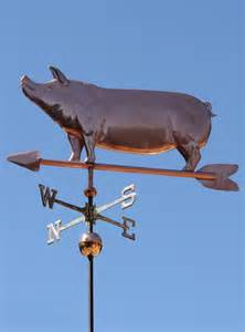 The Weathervane Joyful Pig Weathervane Optional Gold Leafing