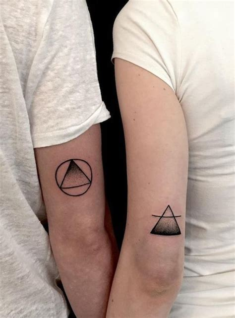 cute small couple tattoos 33 triangle designs for the of geometry