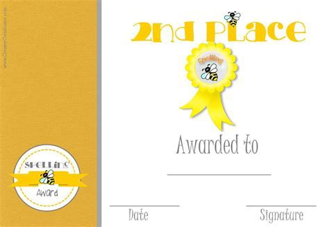 Bee certificate template 21 free printable spelling bee free spelling bee certificate templates customize online yelopaper Images