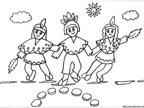 dibujos para colorear de palabras indigenas familia indigena para colorear imagui