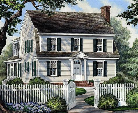 narrow lot colonial house plans colonial home for narrow lot 32417wp architectural designs