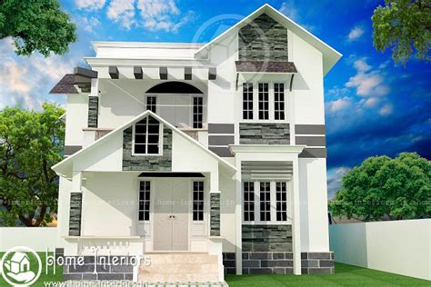 kerala home design below 1500 sq feet 1500 sq ft double floor contemporary home design