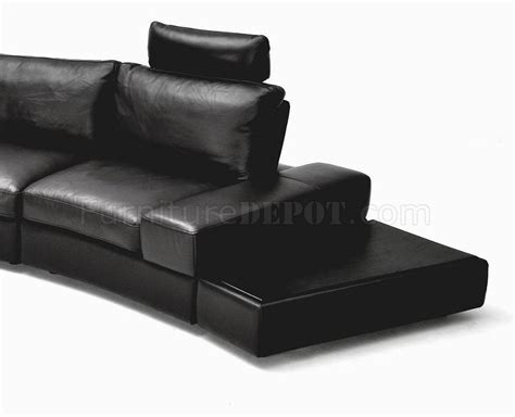 lilac leather sofa 1295b lilac sectional sofa in black leather by vig