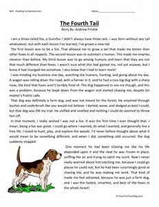 reading comprehension worksheet the fourth tail