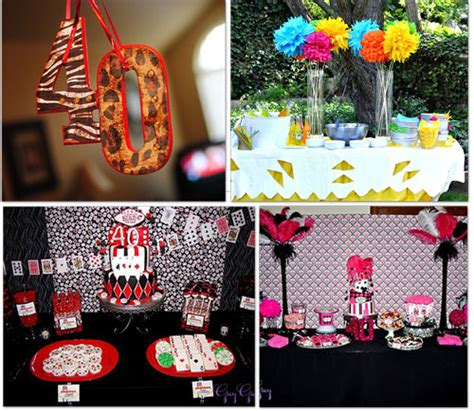 40th birthday decoration ideas 40th birthday table decoration ideas photograph 40th birth