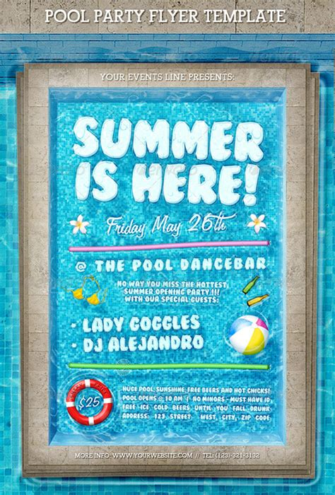 free pool flyer templates top 50 summer flyer templates 56pixels