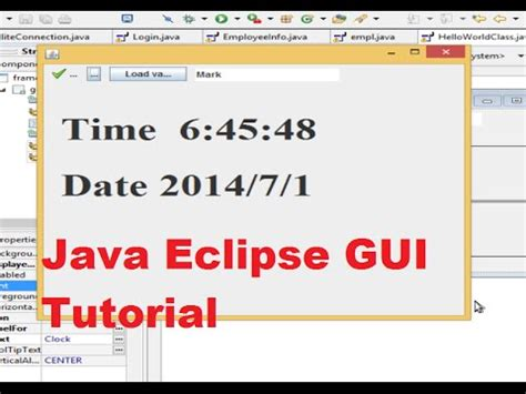 java timer swing java eclipse gui tutorial 23 show system date and time