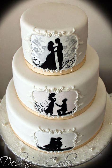 Wedding Siluet by Cake Silhouette Wedding Cake 2719157 Weddbook