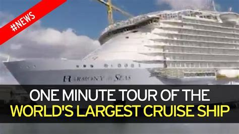 biggest boat in the world tour world s biggest cruise ship is 163 783million building site