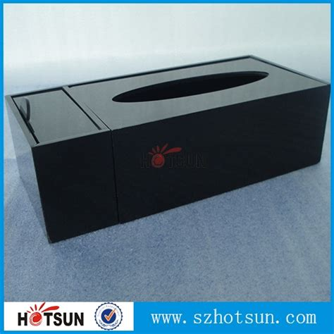 Desktop Tissue Box desktop perspex tissue box black wholesale supplier
