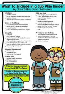 Substitute Lesson Plans Template by 1000 Ideas About Substitute Forms On
