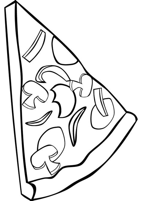 printable coloring pages pizza free coloring pages of slice of pizza