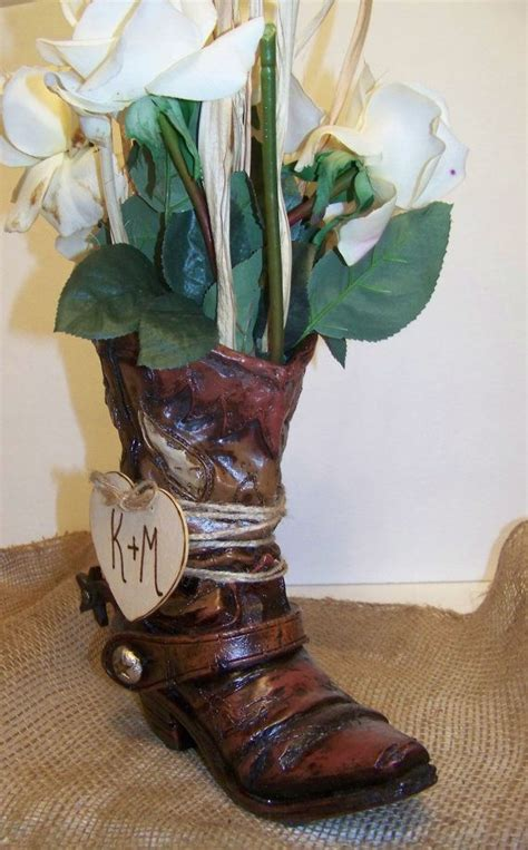Boot Flower Vase by 17 Best Ideas About Cowboy Boot Centerpieces On