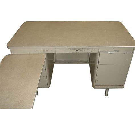 vintage metal tank l shape desk left return ebay
