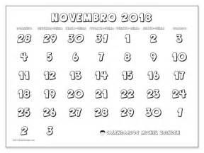 Calendario Novembro Calend 225 Rios Para Imprimir Novembro 2018 Brasil