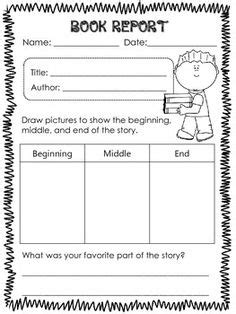 Free Book Report Templates For Kindergarten Printable Book Report Forms Elementary Book And Book