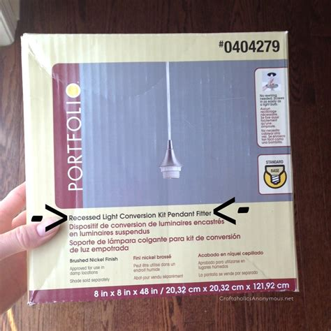convert recessed light to pendant light craftaholics anonymous 174 diy jar pendant light tutorial