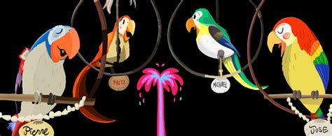 tiki room birds tiki birds by disneygirl52 on deviantart