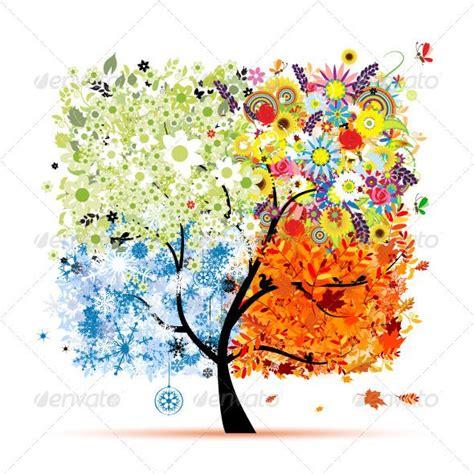 baum cycles paintings four seasons tree summer autumn winter