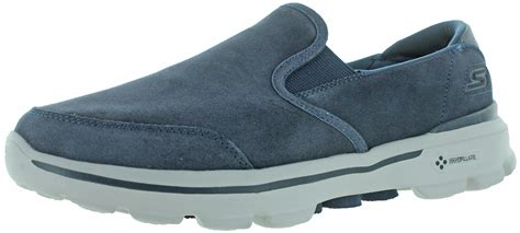 Skhecers Go Walk Suede Leather skechers go walk 3 s leather slip on casuals shoes