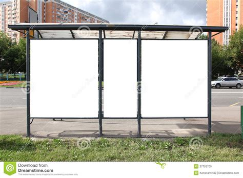 Outdoor Shelter Plans For Advertisers To Place Ad Copy Samples On A Bus Shelter