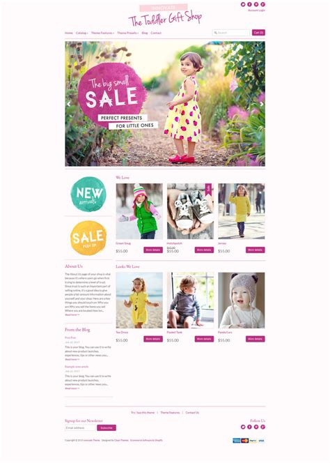expression theme shopify 10 cute responsive shopify themes for kids
