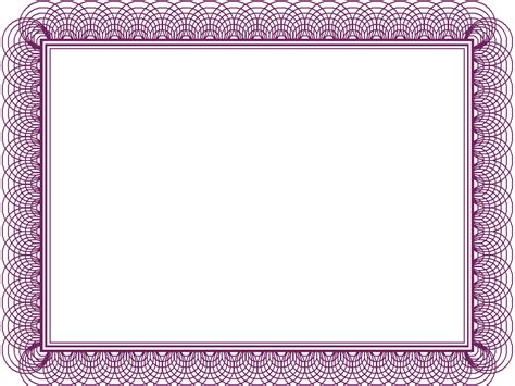 purple certificate template 7 best images of free printable purple borders and frames