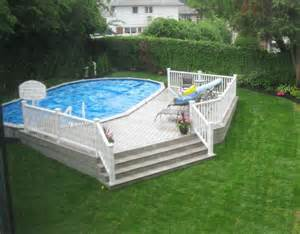 18x33 semi inground pool with deck brothers 3 pools aboveground semi inground inground pools